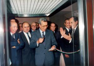 Taglio del nastro del 1987 della sede di Corso Stamira